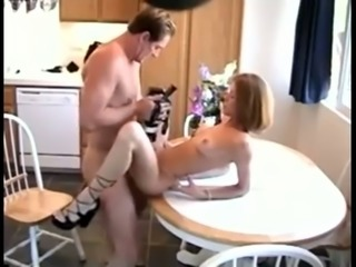 This bitch is in shape an she loves kitchen sex so much