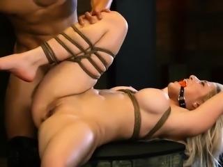 Big black bondage gang bang xxx Big-breasted blondie