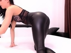 Nasty amateur latex leggins fetish