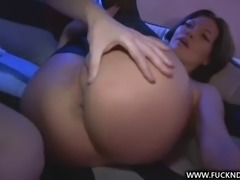 rough anal sex for a brunette with an amazing ass