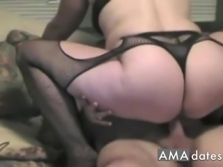 MILF wears the lingerie her husband wants