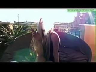 Sexy Pornstar Michelle Moist Smoking 100s On Balcony