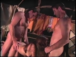 Guy joins a randy babe and her partner for a great shag