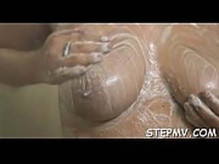 Stepmom opens up her pussy