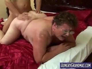 sweaty fat granny rear pussy fucked