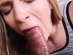 Teen with some big tits and ebony double penetration