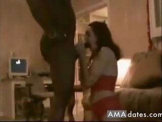 Beautiful housewife made sex with black man