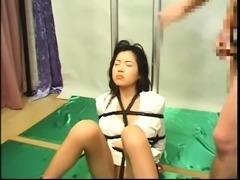 Helpless Asian girls take heavy loads of cum on their faces