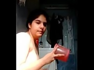 Desi chubby teen playing with herself while having a bath