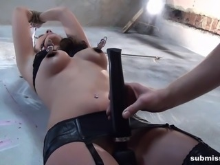 Babe Sandy Ambrosia bound whipped vibed machine-fucked