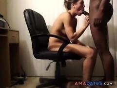 Hot secretary fucked by black dick
