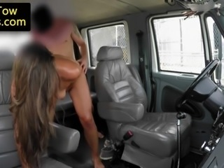 young amateur plowed by lucky truck driver