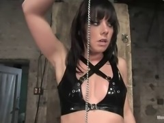 gorgeous brunette is a total bitch when it comes to bondage
