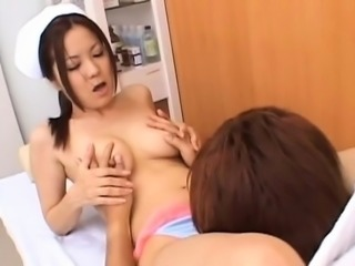 Sexy nurse gets mambos licked and fucked in plenty of poses