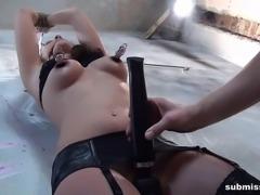 Babe Sandy Ambrosia bound whipped vibed machine-fucked