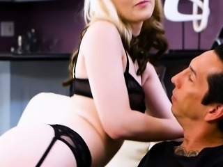Tiny blonde Lily Rader destroyed by a monster cock