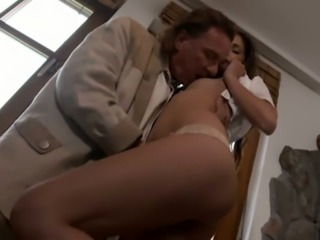 Really beautiful buxom German babe Coco Kiss gets her tight pussy licked