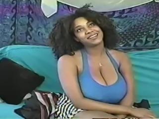 Blowjob with massive tits ebony