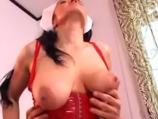 Hanging Saggy Tits Scary Nurse Assfucked In Stockings