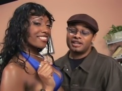 Real horn-mad ugly black slut Cherokee Da Ass exposes her huge butt