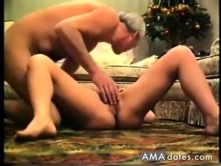 Granny and granpa makes a porno