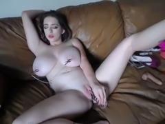 white girl making pussy cum so hot on webcam