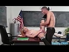 Real schoolgirl screwed during detention