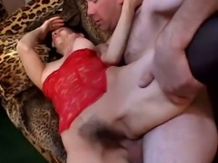 Hot brunette Fauna is a busty vixen and she can take dick like a champ