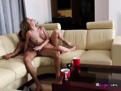 Blonde Secretary Angel Piaff Gets Bonked By Boss
