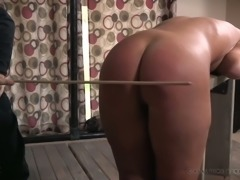 I told her to bend over and then I whipped her ass with a wooden stick