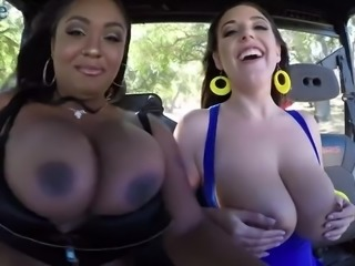 Australian giant breasted MILF Angela White turns picnic into awesome fuck