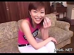 Oriental dilettante anal creampie