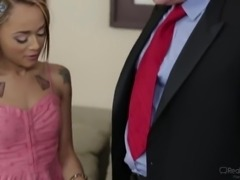 Too tired hubby cheats on wife with a fresh looking Latina hottie Holly Hendrix