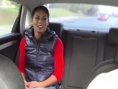 Taxi driver bangs busty ebony