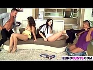Dirty euro chicks get nailed good