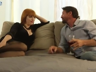 Fabulous red haired babe Penny Pax wanna nothing but spoon sex