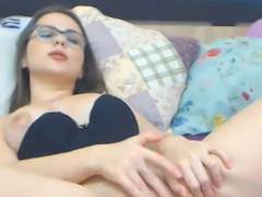 Watch Big Ass Nerd Having Fun With Tight Shaved Pussy