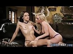 Horny lesbian fingering