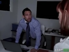 Too curious secretary Alexa Nova gets punished by her boss with analfuck