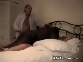 Perverted old couple hires a black fucker