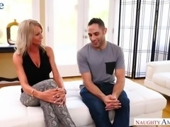Awesome Texas blonde MILF Emma Starr desires to ride fat cock