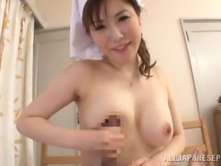 A hot Japanese housewife with natural tits gets pounded