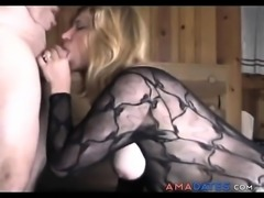Busty milf gets pounded at home