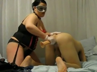 That's called relationship goals and this BBW slut loves pegging her man