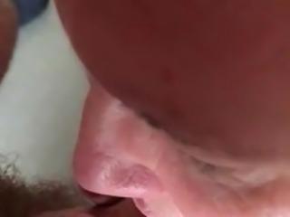 wife sucking uncut cock