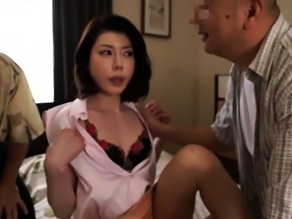 Sensuous Asian wife has two horny old guys banging her pussy
