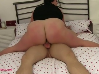 This flexible BBW whore looks like she loves fucking and she is a crazy slut
