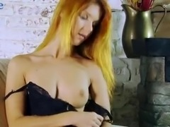 Attractive Russian babe Nicole Birdman plays with her pink pussy and juicy tits