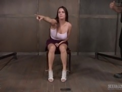 Busty hottie Scarlet De Sade is actually ready to try some BDSM out