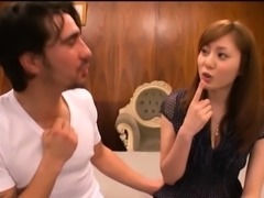Sultry Japanese babe gets naked and feeds her lust for cock